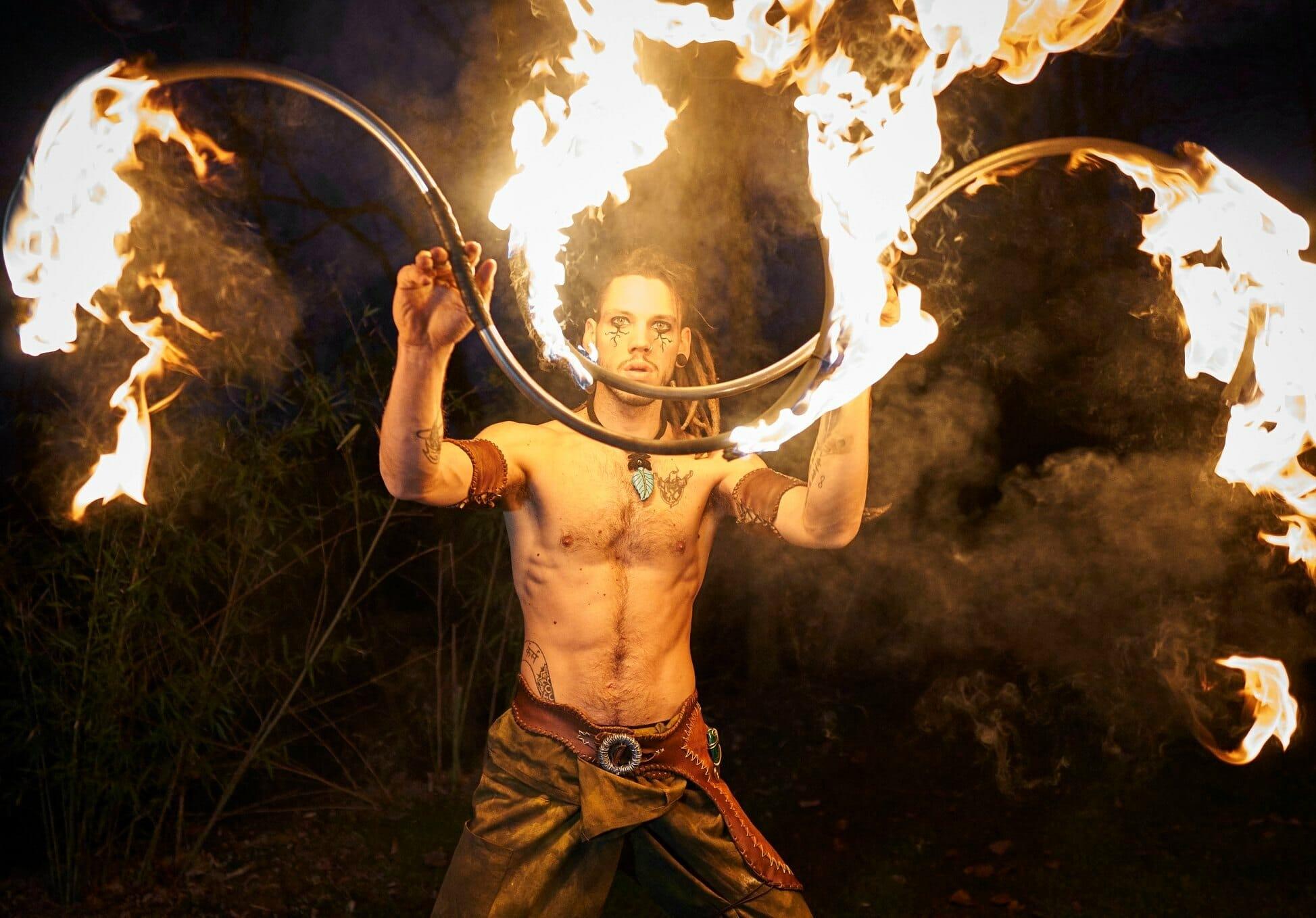Nicola Colleoni Performarte – spettacolo di fuoco – medievale – buugeng
