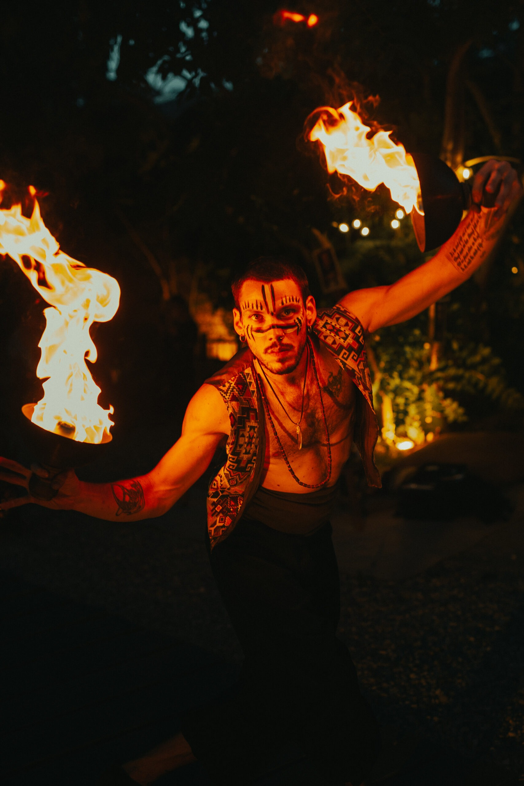 Nicola Colleoni Performarte – The Sanctuary Eco Reatreat Milano – fire perfomer – dancer – performance
